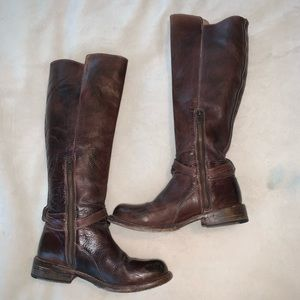 Bed Stu Bristol Dark Brown Leather Boots